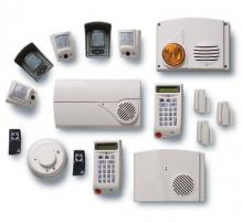 DIfferent white burglar alarm provided by alarmnet