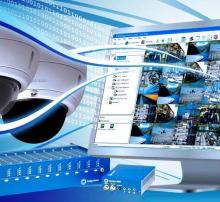 CCTV camera, server and monitor for security purposes