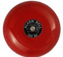 Red round alarm bell