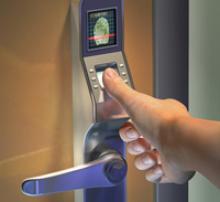 Electronic door lock with biometrics from Alarmnet